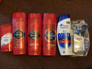 3 old spice body wash 1 Head and shoulders shampoo 1 schick Quattro razors and 1 deodorant for $20 pick up only for Sale in Inglewood, CA