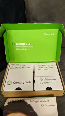 CenturyLink high speed internet Wi-Fi router modem with hardware for Sale in Denver,  CO