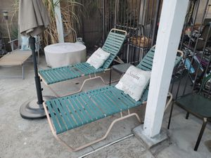 Two Pool Outdoor Lounge Chairs for Sale in Riverside, CA