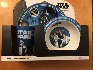 Star Wars Disney plate, cup and bowl ensemble for Sale in Mission Viejo, CA