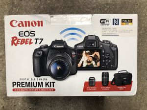 Brand New Canon EOS REBEL T7 DIGITAL CAMERA PREMIUM KIT for Sale in North Miami, FL