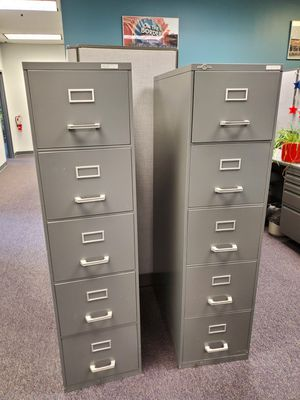 5 drawer file cabinets $30.00 ea for Sale in Willowbrook, IL