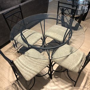 Glass Table With Chairs + Glass End Tables for Sale in Rockville, MD