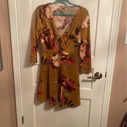 Stillettos's Dark Mustard Floral Dress for Sale in Nashville,  TN