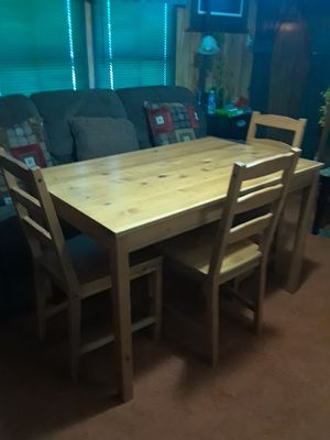 Ikea Dining Set ( Table & 3 Chairs ) 120. ( 30 w x 47 L x 29 height ) for Sale in Princeton, TX