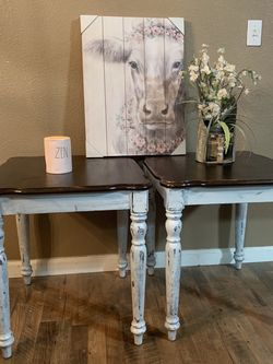 Refurbished Vintage End Tables Price Is $150 Firm Sold Only As A Set for Sale in Madera,  CA