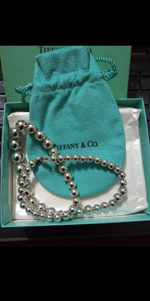 A BEAUTIFUL TIFFANY & CO AUTHENTIC STERLING SILVER BEADED NECKLACE 18 LONG for Sale in Sudley Springs, VA
