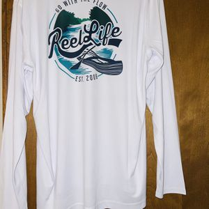 Men's Fishing Shirts Reel Life Size XL Moisture Wicking for Sale in Jamestown, NC