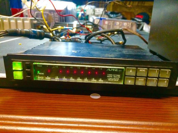 Vintage 1980 U0026 39 S Alpine 3317 Car Audio Eq Equilizer Old School Radio Equalizer For Sale In Compton