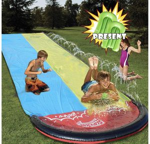 Water Slip and Slides for Kid Adults,Colorful Slip Slide Play with Plash Sprinkler,Garden Backyard Giant Racing Lanes and Splash Pool,Outdoor Water T for Sale in Orlando, FL