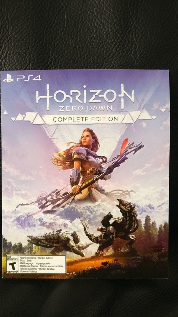 PS4 Horizon Zero Dawn complete edition digital code