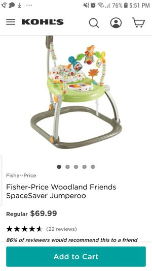 Fisher-Price Woodland Friends SpaceSaver Jumperoo for Sale in West Springfield, VA