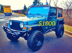 I sell urgent 2000 Jeep Wrangler TJ-$1000 for Sale in Hartford, CT