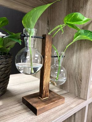 New plant vase with a wooden frame for Sale in Houston, TX