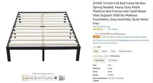 ALMOST NEW STEEL AND WOODEN BED FRAME for Sale in San Francisco, CA