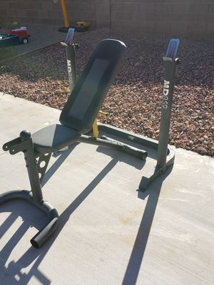 Adjustable Bench and Bar Rack for Sale in Glendale, AZ