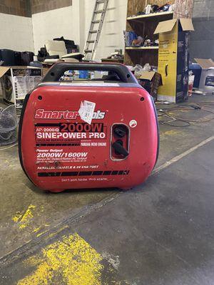 Smarter Tools STAP-2000iQ, 1600 Running Watts/2000 Starting Watts, Gas Powered Portable Inverter for Sale in Turlock, CA