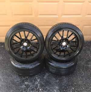 Black Rims (18 inches) with Tires for Sale in North Lauderdale, FL