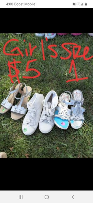 Girls size 1 shoe lot good condition for Sale in Saint Thomas, PA