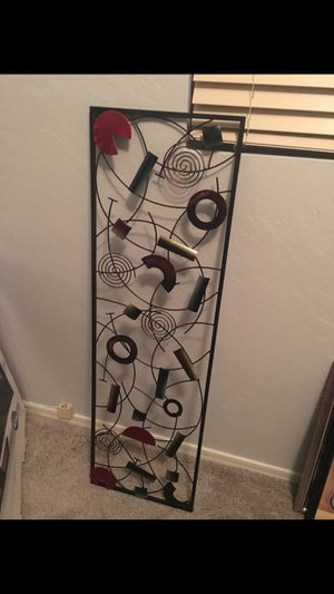 Home or office decor- metal design art for any bedroom or office for Sale in Chandler, AZ