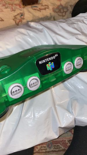 Mint n64 jungle green nintendo 64 funtastic with everything for Sale in Boston, MA
