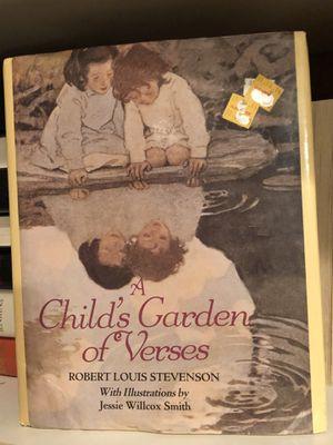 A Child's Garden of verses book by Robert Louis Stevenson vintage hardcover book 1985 for Sale in Phoenix, AZ