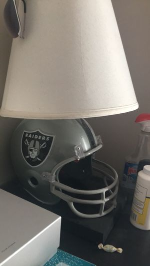 Raiders lamp, trash can bin and clock for Sale in Salt Lake City, UT