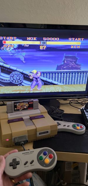 Super Nintendo + 2 controllers + street fighter for Sale in Miami, FL