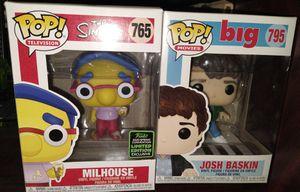 Funko Pop: Milhouse 765; Josh Baskin 795 for Sale in El Paso, TX