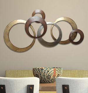 Stratton Home Decor Metallic Rings Wall Decor for Sale in Hayward, CA