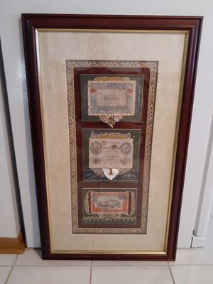 Framed currency art for Sale in Des Plaines, IL