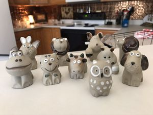 Ceramic Animal Flower Pot Sitters for Sale in Charlotte, NC