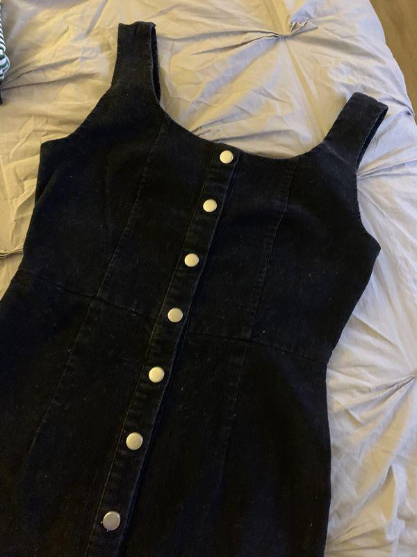 Overall black dress