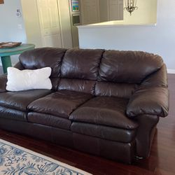 Leather Sleeper Sofa And Swivel Recliner for Sale in Belle Isle,  FL