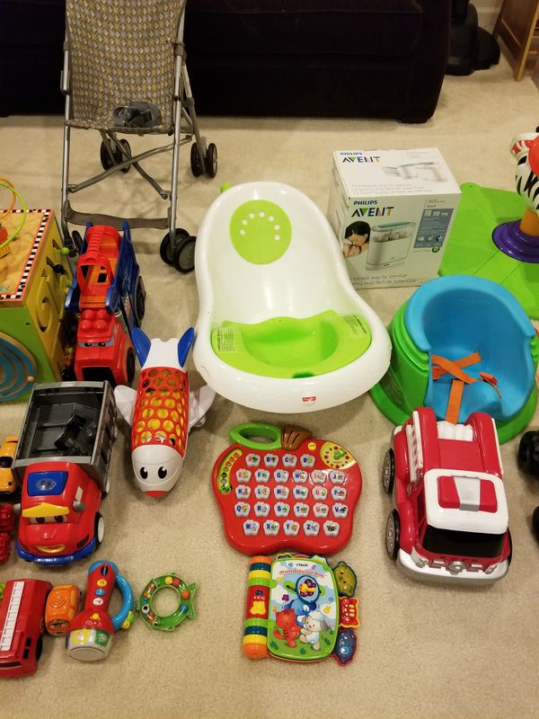 Lot of infant and kids toys, and things