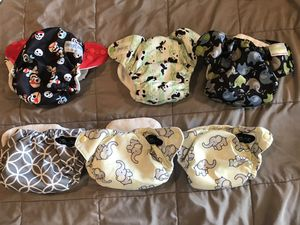 Newborn size all in one cloth diapers up to 12-13 lbs for Sale in Sunnyvale, TX