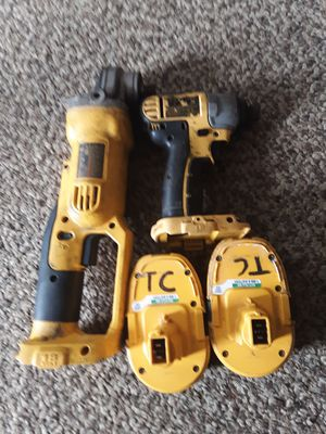 Dewalt Impact and Grinder and 2 Batteries for Sale in Bernville, PA