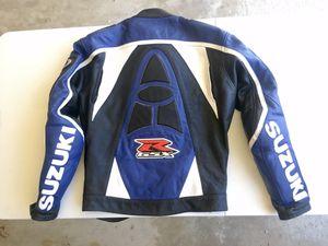 Suzuki GSXR Leather Motorcycle Jacket for Sale in Carlsbad, CA