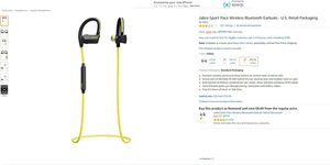 Jabra Sport Pace Wireless Bluetooth Earbuds - U.S. Retail Packaging for Sale in North Las Vegas, NV