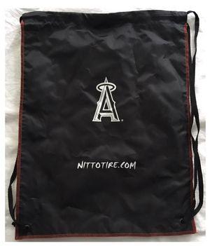 LA angels anaheim baseball drawstring BACKPACK nap sack TOTE BAG - black for Sale in Irvine, CA