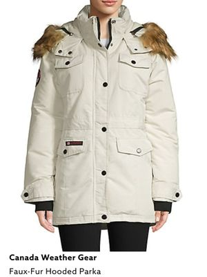 Canada Weather Gear Women's White Parka Coat Jacket New XL for Sale in Los Angeles, CA