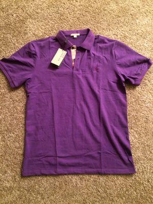 Men Burberry polo shirt size L for Sale in Cincinnati, OH