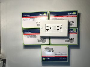 Leviton Slim GFCI White Outlet with Wallplate N7899-W for Sale in Los Angeles, CA