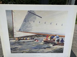 Lithograph Catboats sailboats for Sale in Millstone, NJ