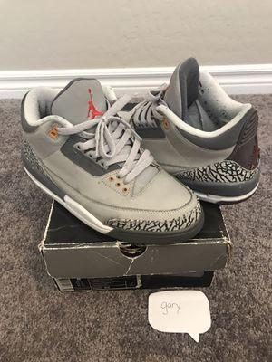 Jordan Cool Gray 3 Size 8 for Sale in Las Vegas, NV
