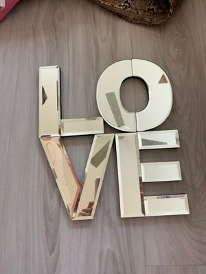 Love mirror wall art decor for Sale in Glendale, AZ