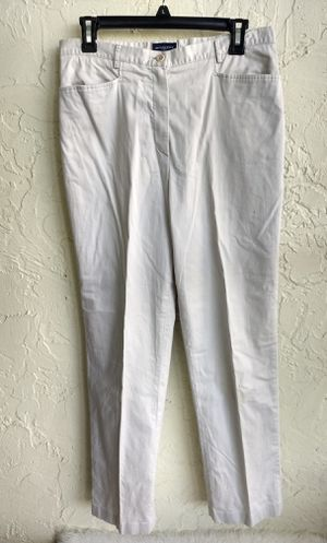 BURBERRY Women's Tan Cotton Elestane Stretch Golf Pants sz 8 with Pockets for Sale in Delray Beach, FL