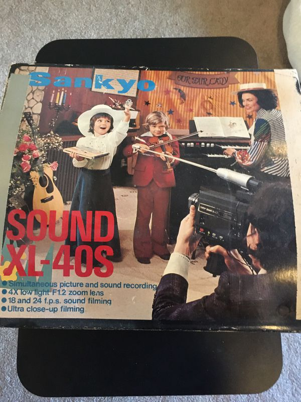 Vintage Sankyo Sound XL-40S 8mm Video Camera