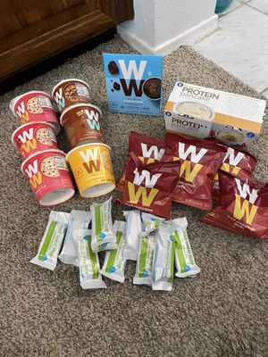 WW Foods .. fudge brownie,Oatmeal, muffins, cinnamon puffs, protein pancakes, mint cookie crisps for Sale in Chandler, AZ