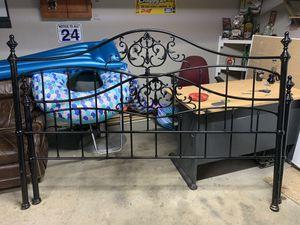 King metal scrolled headboard and footboard for Sale in Murfreesboro, TN